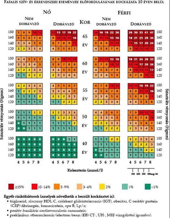 hipertónia valószínűsége